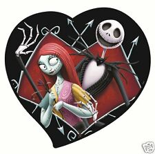 Nightmare Before Christmas Jack Skellington & Sally Heart Magnet