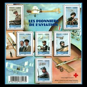 France-2010-Aviation-Pioneers-Red-Cross-s-s-Sc-3901-MNH