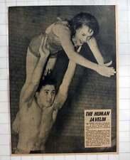 1954 Kennington Girl Valerie Wilmot Being Thrown By Alfred Carter