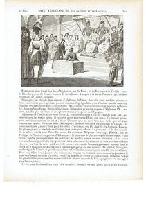 1825 San Fernando III de Castilla Santo Peleas de Arriba-Sevilla Saint Ferdinand