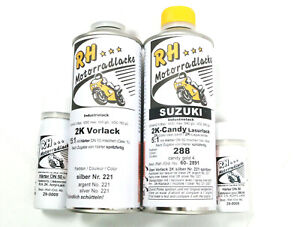 Motorcycle color colour laque paint 288 candy gold 4- 375 ml Suzuki GT 750