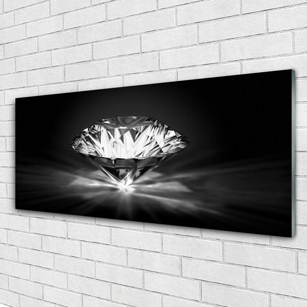 Glasbilder Wandbild Druck auf Glas 125x50 Diamant Kunst