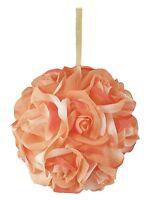 Garden Rose Kissing Ball - Peach - 6 Inch Pomander