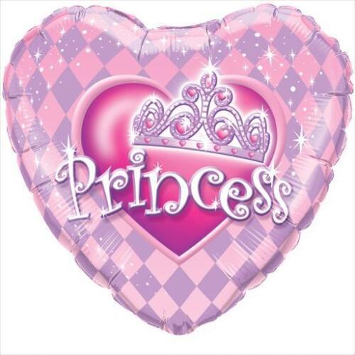 Tiara Princesa En Forma De Corazón Qualatex 18 pulgadas Suprafoil Globo