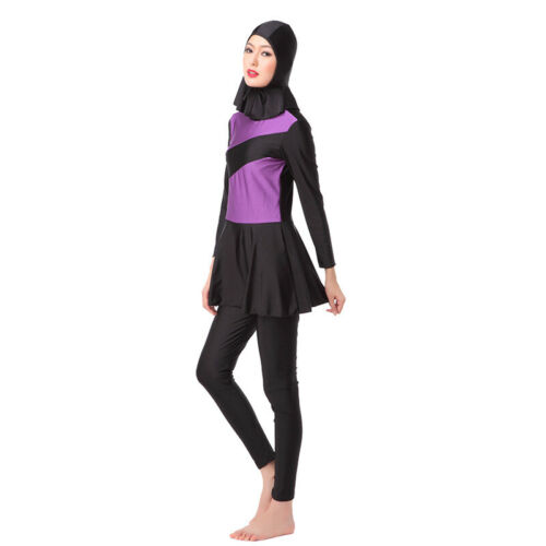 Women Islamic Muslim Full Cover Costumes Modest Swimwear Burkini Arab Beach Set