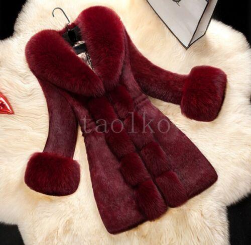 Big Luksus Fur Rabbit Ægte Jackets Fox Collar Kvinder Reelle Winter Ladies Coat YwRXqxraY