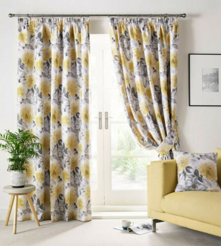 Luxury Pencil Pleat Lined Curtains FREE POST Stunning Design: Sophia