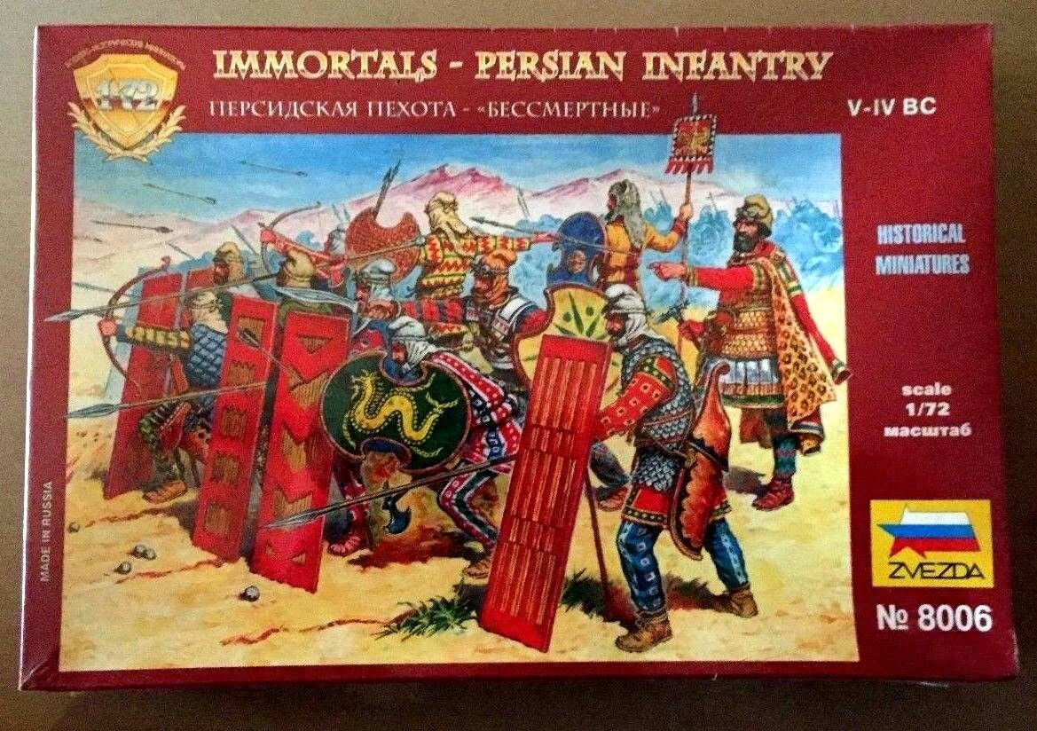 ZVEZDA 8006 - IMMORTALS PERSIAN INFANTRY - 1 72 PLASTIC KIT