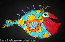 WALL ART - FANCIFUL FISH WALL SCULPTURE - POLKA DOT FISH