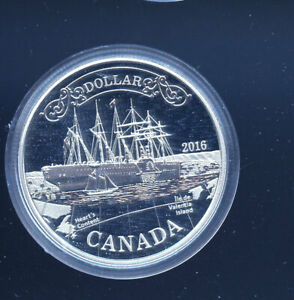 2016-Canada-Silver-Proof-Dollar-Transatlantic-Cable-Coin-in-Capsule-B253