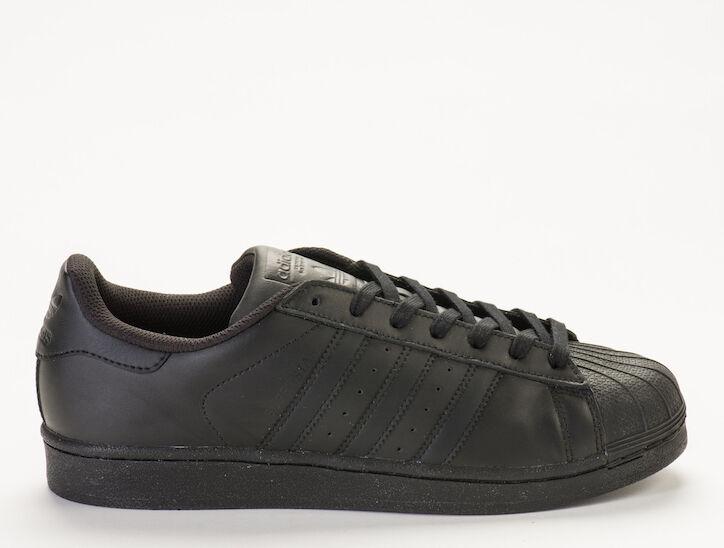 Adidas AF5666 Originales Superstar Foundation AF5666 Adidas para hombre Negro/Negro Zapatillas/Sneake 40d493
