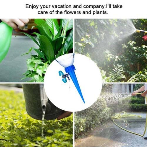 12X Automatic Watering Irrigation Spike Garden Flower Plant Drip Sprinkler Tool