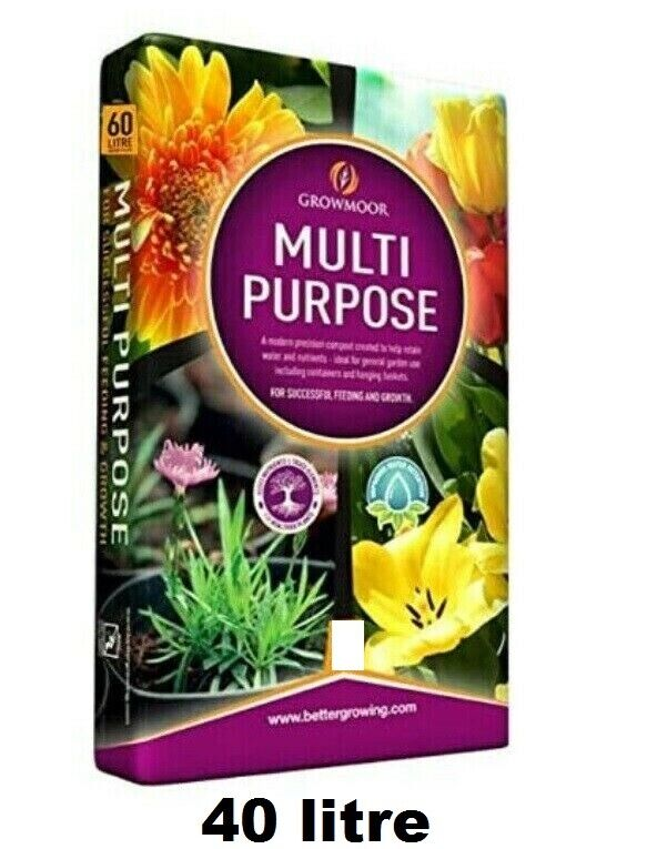 Growmore 40L of Multi Purpose Garden Potting Compost - Ideal for All Gardens