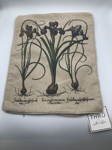 Thro-By-Marlo-Lorenz-Throw-Pillow-Cover-14x18-Haze-NWT-Aster-Floral-Iris-Natural