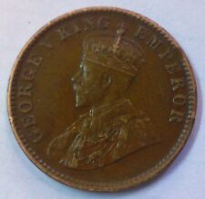 GEORGE V KING EMPEROR-ONE QUARTER ANNA-INDIA 1930  COPPER COIN..