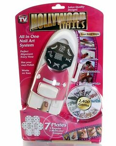 Hollywood nails all in one professional nail art system kit as image is loading hollywood nails all in one professional nail art prinsesfo Gallery