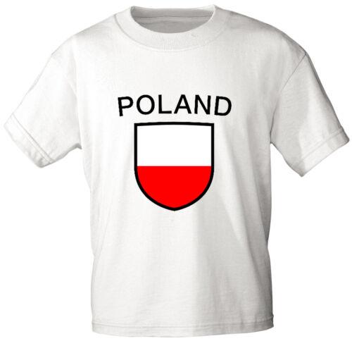 Laender Kinder T-Shirt 80-152 Wappen Polen Poland 76132
