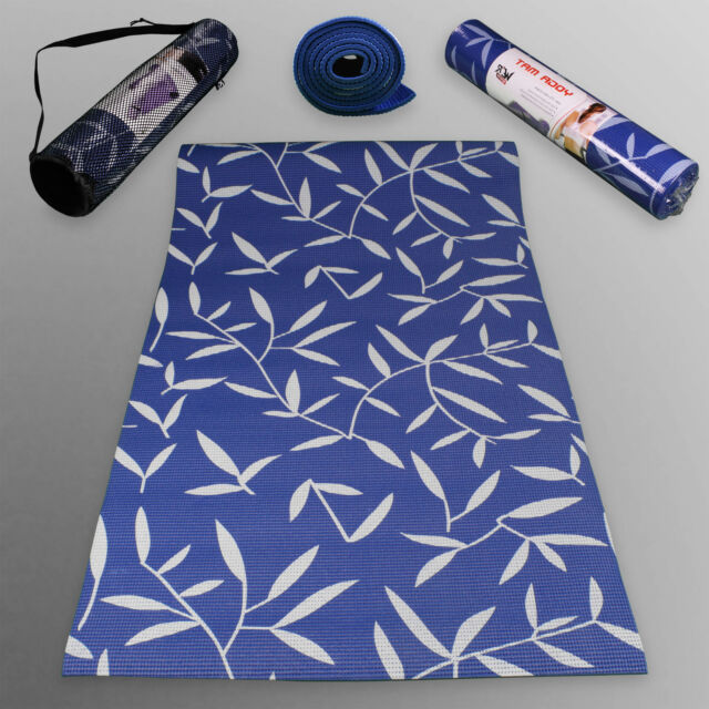 Yoga Exercise Fitness Gym Workout Mat With Pattern Physio Pilates Non Slip 6mm