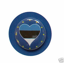 2 Badges Europe [25mm] PIN BACK BUTTON EPINGLE  Eesti Vabariik