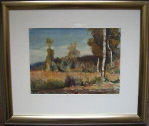 :: Reinhold Nahrungsmittel * 1888 Watercolour ° Forest Landscape Trees Birch Botany ° Antique