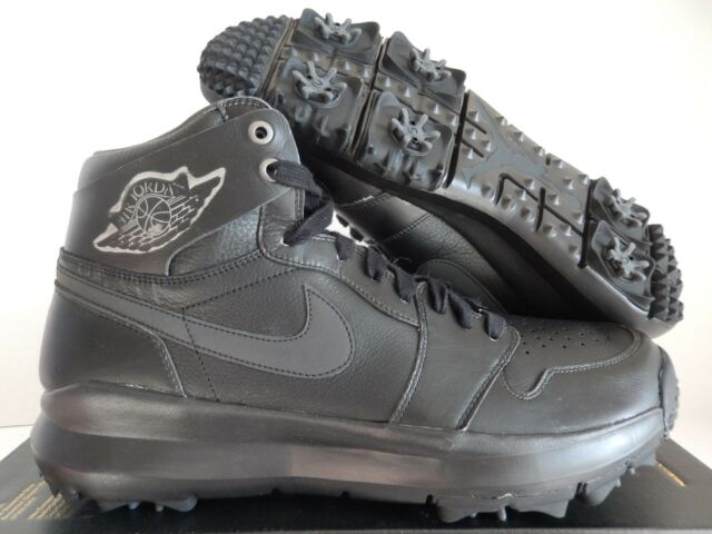 6d9063af0f68 Nike Air Jordan 1 Men s Golf Shoes Black Size 13 for sale online