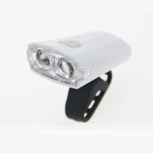 2 LED Bicycle Headlights USB Rechargeable Bike Light Lamp Cycling Front Light