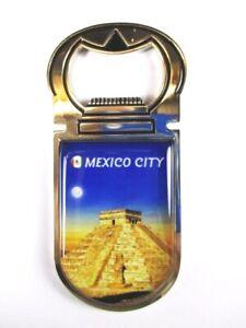 Mexico City Maya Temple Magnet Bottle Opener Mexico Souvenir