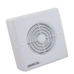"Manrose XF100P 4"" Bathroom Extractor Fan with Pull Cord ..."