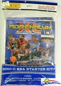 10-11-Panini-Adrenalyn-Basketball-Factory-Sealed-Starter-Kit-Binder-24-Card-Rare