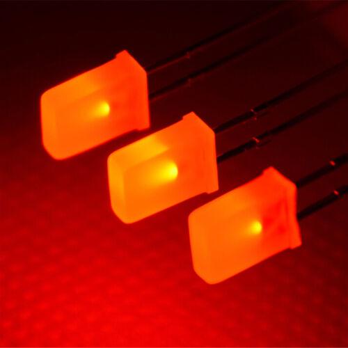 2*5*7mm Blanco//Verde//Rojo//BlueH Ki Plaza de los diodos LED Rectangular 100 un
