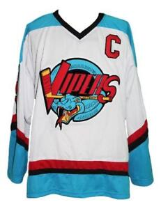Any-Name-Number-Size-Detroit-Vipers-Retro-Custom-Hockey-Jersey-Howe-White