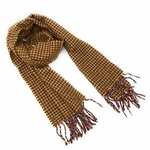 4253aaf03 Image is loading Gents-Luxury-Camel-Hair-Classic-Tattersall-Winter-Scarf-