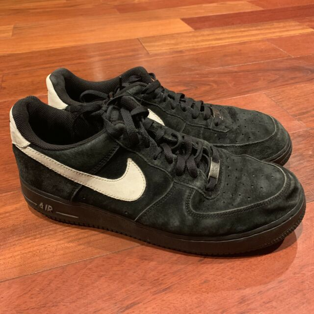 Nike Air Force 1 Low Black White Suede Men S Size 11 2011