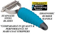 PET Dog GROOMING 8 Blade Stripping STRIPPER TOOL Hair Mat Breaker Comb RAKE Coat