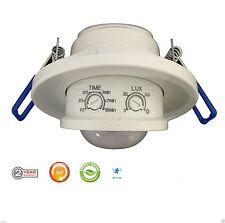 Recesed PIR Infrared Motion Sensor Ceiling Indoor 360 Degree NEW 2 Year Warranty