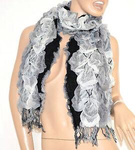 Caricamento dell immagine in corso SCIARPA-donna-NERA-BIANCA-GRIGIO- scaldacollo-echarpe-scarf- 363788629d7f