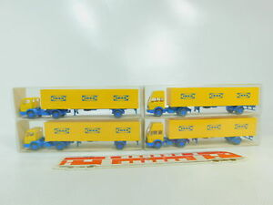 BO645-0-5-4x-Wiking-H0-1-87-Sattelzug-Mercedes-MB-Ikea-25544-26544-NEUW-OVP