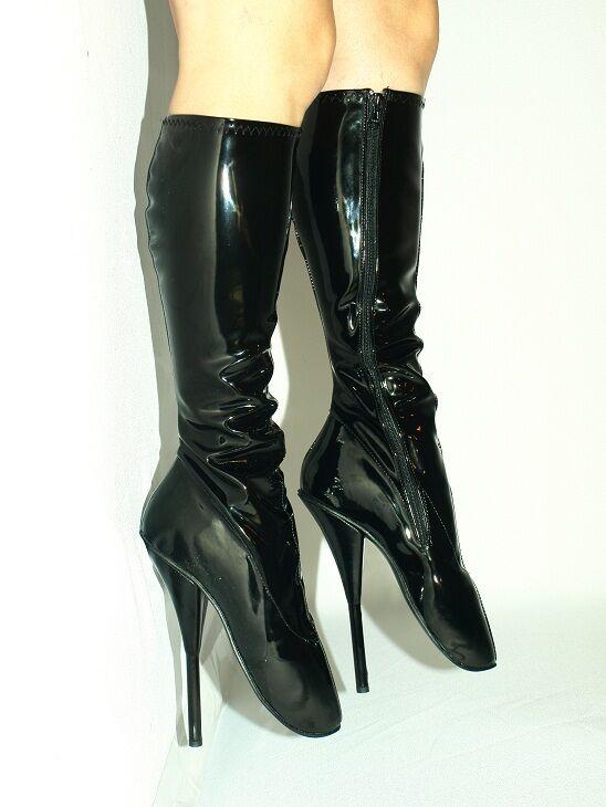 Lack high heels balletstiefel kniehoch 37 38 39 40 41 42 43 44 45 46 47 FS1040
