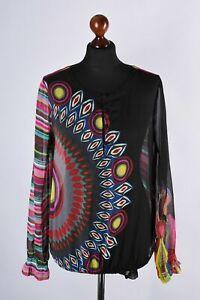 Desigual-Multicolore-Camicia-a-maniche-lunghe-taglia-L