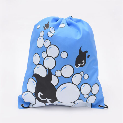 UK Drawstring Backpack Waterproof School Sack Gym PE Swim Dance Sport Shoes Bags