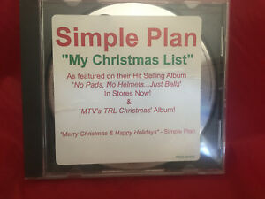 image is loading simple plan my christmas list cd promo 2002 - Simple Plan Christmas Song