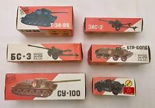 USSR Soviet Russian Diecast Military Toy Tank Set of 6 1:43