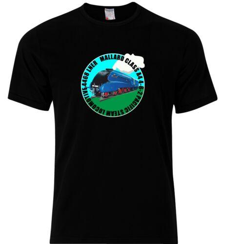 Hommes T Shirt Train à Vapeur Moteur le canard colvert Locomotive CL A4 LNER 4468 BR 60022