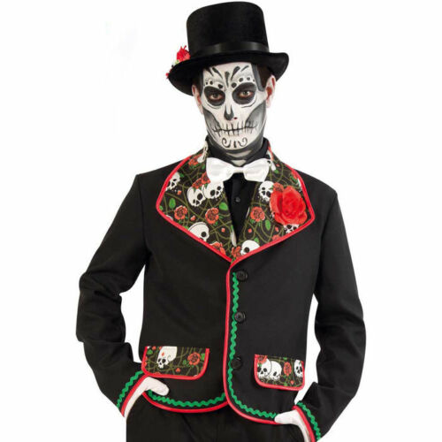 NEU Herren-Kostüm Jacke El Fargo Tag der Toten Mexiko Halloween Tag der Toten