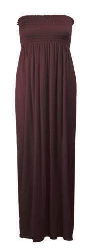 Nouveau haut sheering boobtube bandeau long jersey bustier robe longue tailles plus