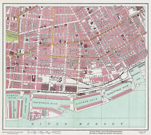 Toxteth Dock Liverpool 1928 Series Sheet 15 Large Map Reprint