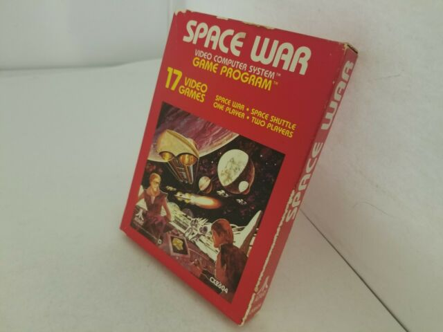NEW SPACE WAR GAME FACTORY SEALED WEAR ON BOX FOR ATARI 2600 FOR USA NTSC F59