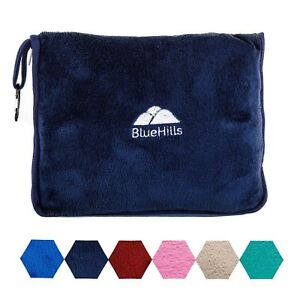 BlueHills-Premium-Soft-Blue-Travel-Blanket-Pillow-Airplane-Blanket-in-case