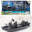 World Peacekeepers Marine Military Boat  Army Toy Includes 3 Figures