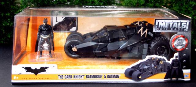 1:24 Jada 98261 Batmobile The Dark Knight Figur Batman DC-Comics NEU /& OVP